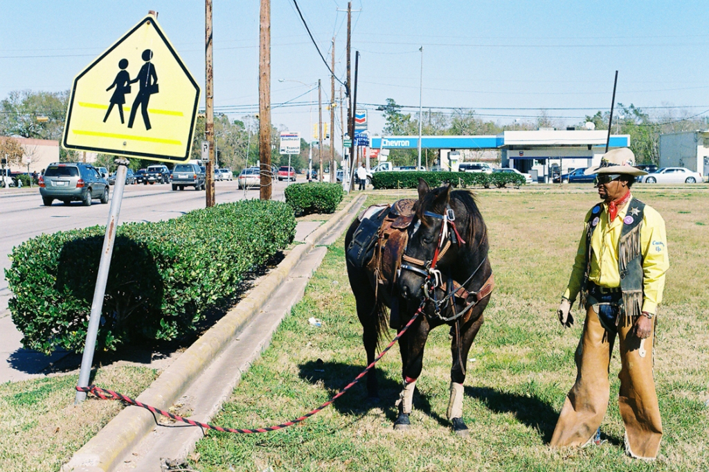 Houston Texas street photography with horse